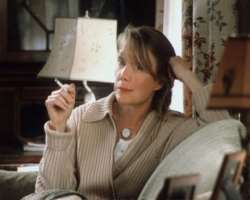 Dianne Wiest smoking a cigarette (or weed)